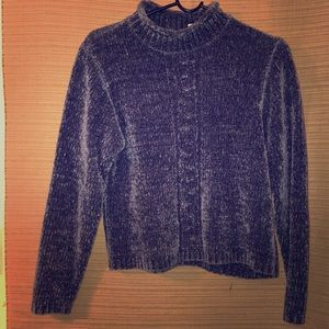 Super soft velour moc turtleneck sweater.